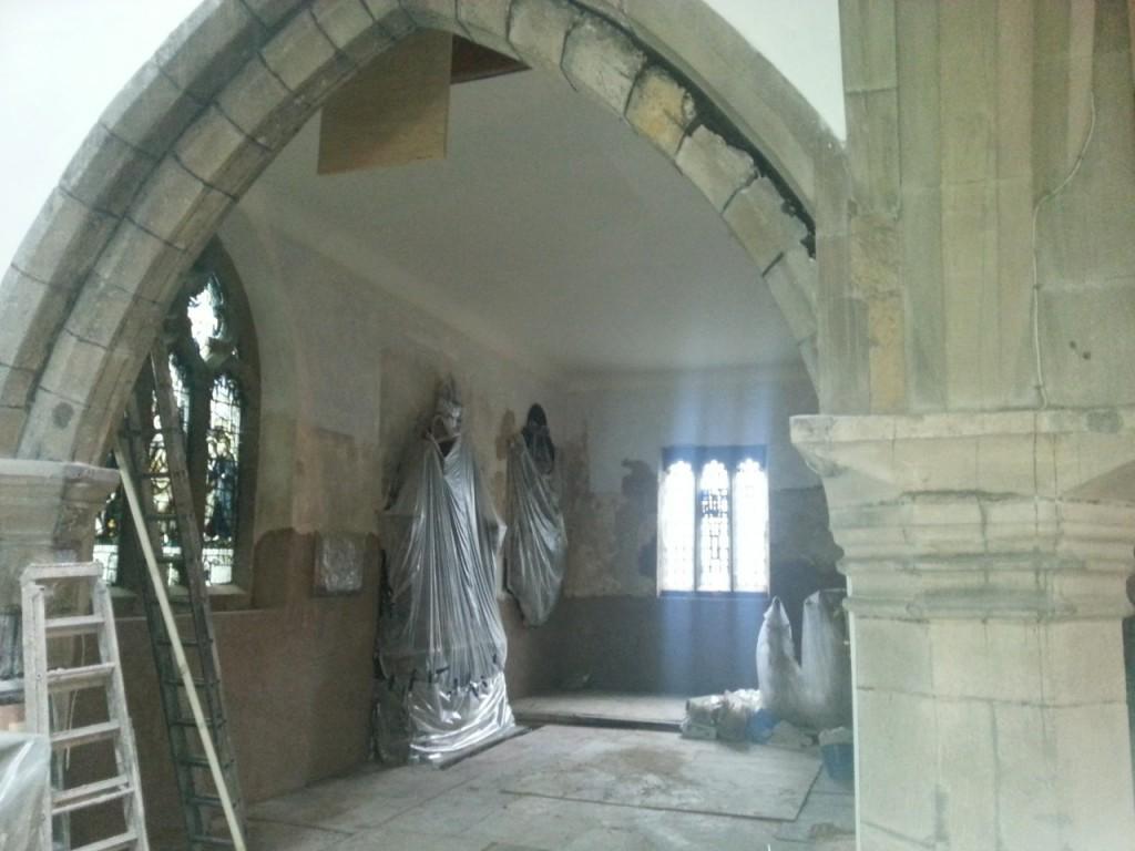 interior church statues