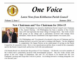 KBPC One Voice summer 2014 image