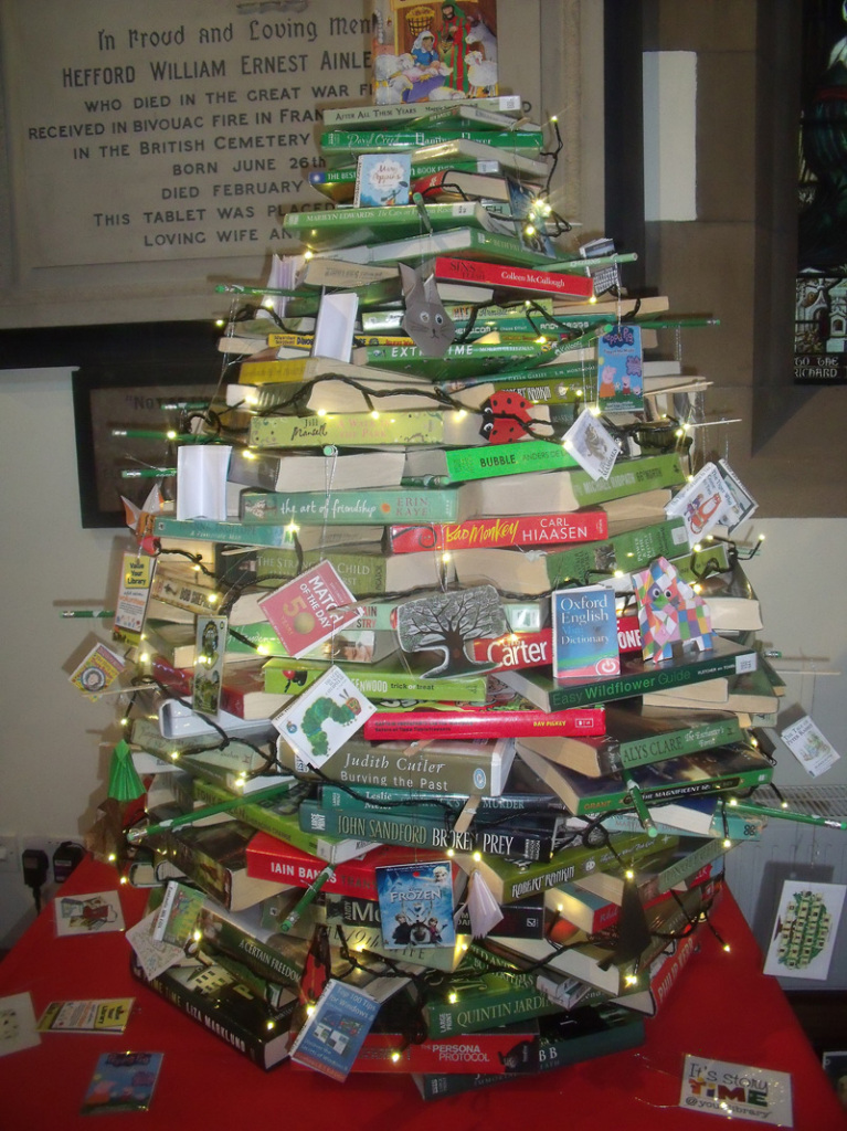Kirkheaton Library's Book Tree