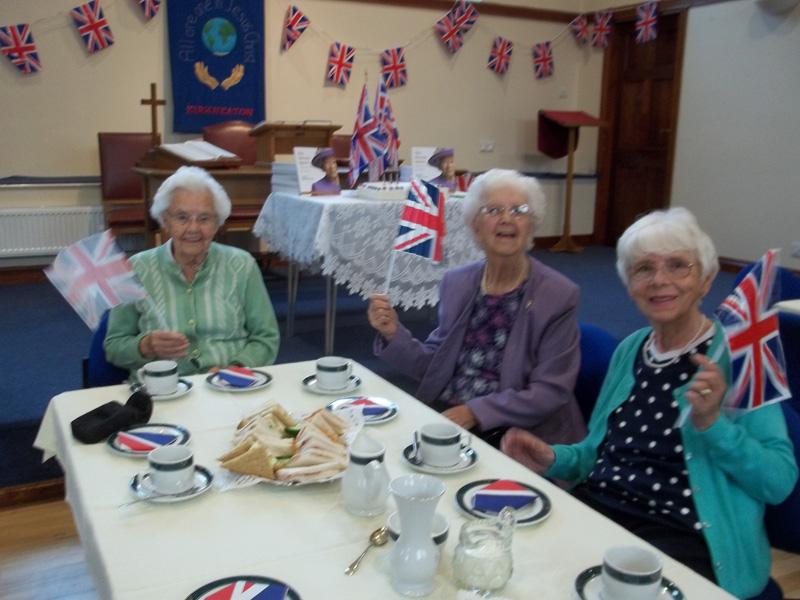 Some of the more senior Yettoners enjoying their 'Birthday tea'
