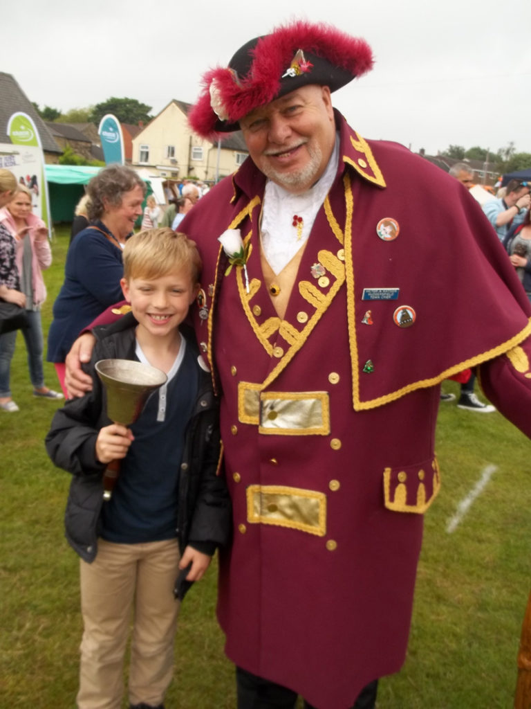 One of our more younger Yettoners with the town crier