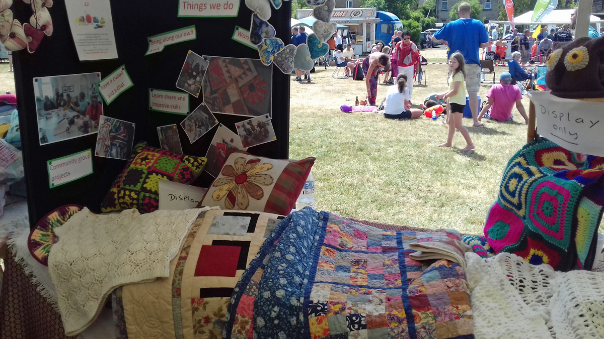 The Saturday craft groups showcasing their work